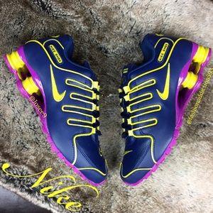 16262c8a6850 Nike Shoes - Nike SHOX NZ Women s Navy Blue purple yellow shoes